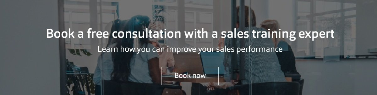 Book a free consultation with a sales training expert. Learn how you can improve your sales performance.