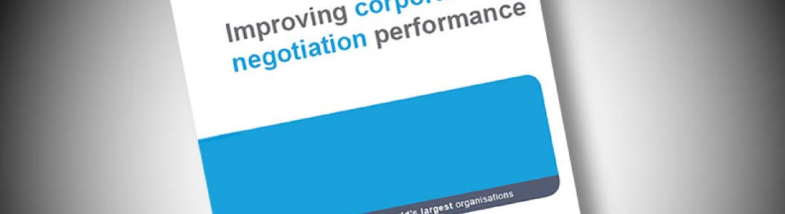 Research findings are published with IACCM into effective corporate negotiation performance